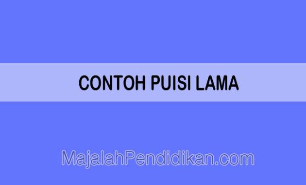 Contoh Puisi Lama
