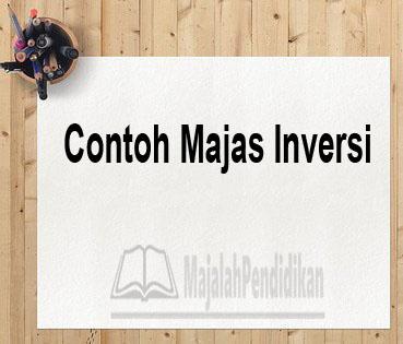 Contoh Majas Inversi