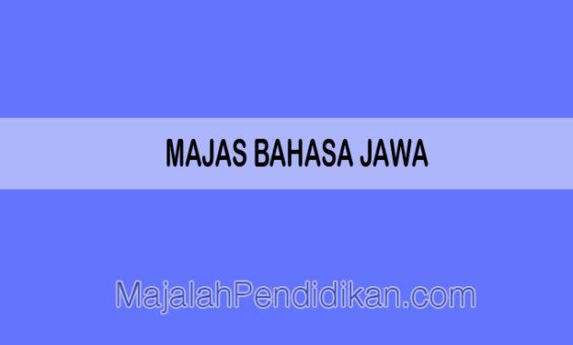 Majas Bahasa Jawa
