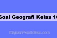 Soal Geografi Kelas 10