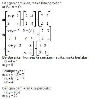Contoh Soal Matriks dan Jawabannya Kelas 11