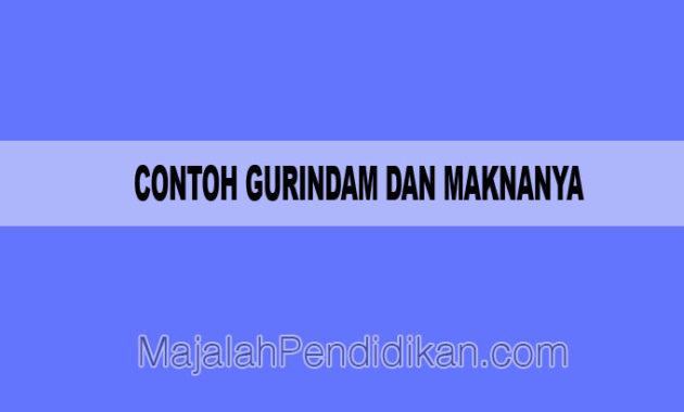 Contoh Gurindam Dan Maknanya