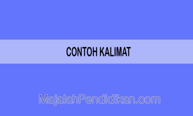 Contoh Kalimat