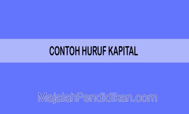 contoh huruf kapital