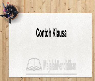 Contoh Klausa