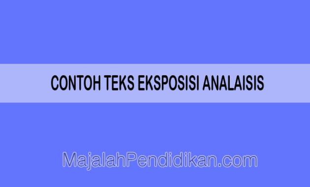 contoh teks eksposisi analisis