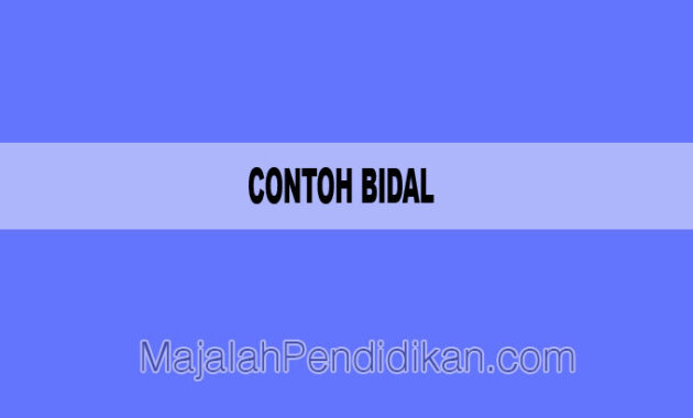 Contoh Bidal