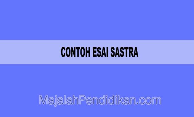 Contoh Esai Sastra