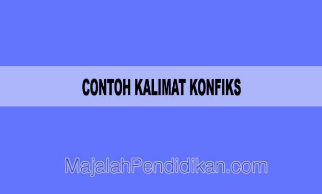 Contoh Kalimat Konfiks