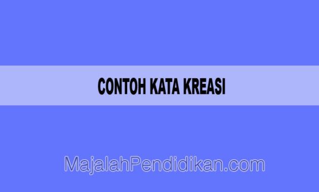 Contoh Kata Kreasi