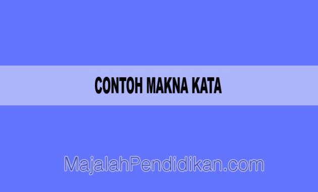 Contoh Makna Kata