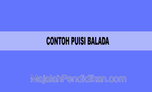 Contoh Puisi Balada