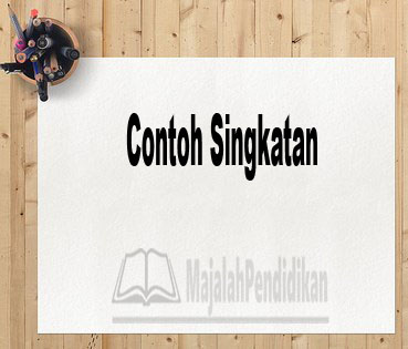 Contoh Singkatan
