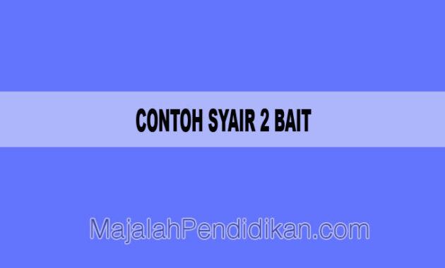 Contoh Syair 2 Bait