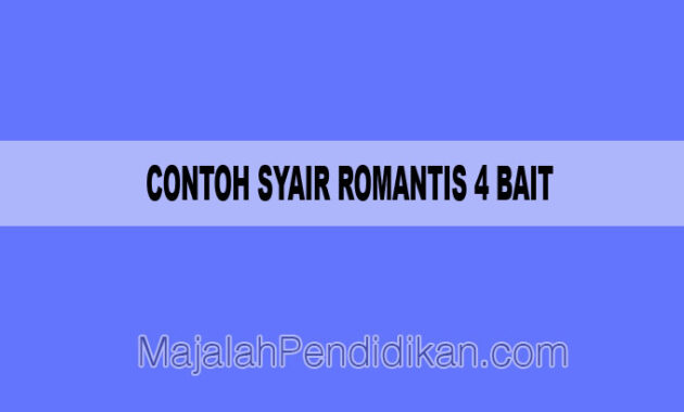 Contoh Syair Romantis