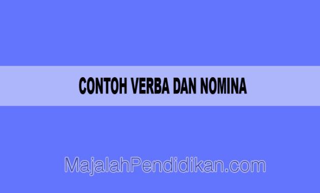 contoh kalimat verba dan nomina