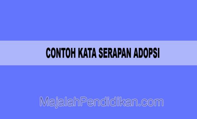 contoh kata serapan adopsi