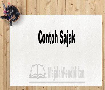 Contoh Sajak