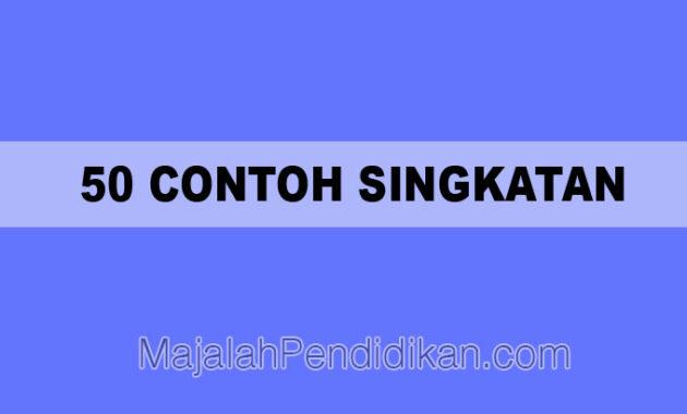 50 Contoh Singkatan