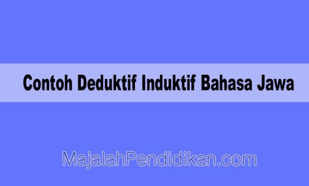 Contoh Deduktif Induktif Bahasa Jawa