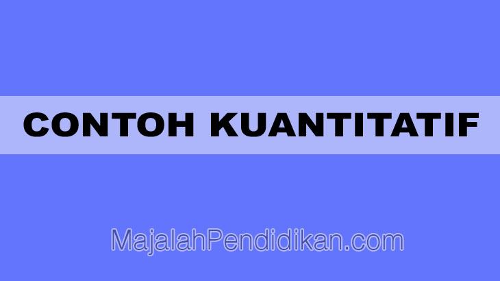 Contoh Kuantitatif Definisi Karakteristik Fungsi Dan Contoh