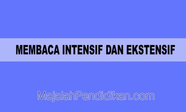 Membaca Intensif dan Ekstensif