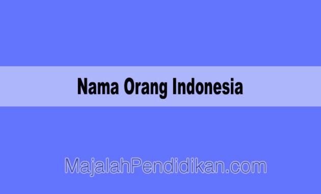 Nama Orang Indonesia