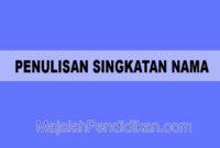 Penulisan Singkatan Nama