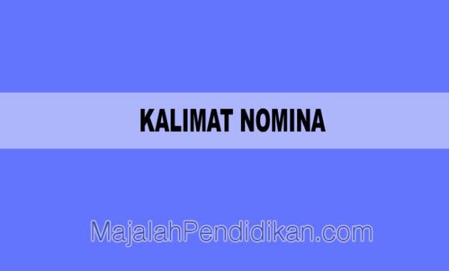 kalimat nomina