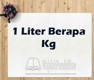 1 liter berapa gram