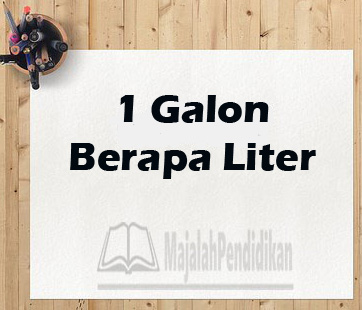 1 galon berapa liter brainly