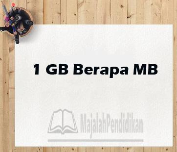1 gb = mb