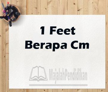 1 feet berapa meter persegi