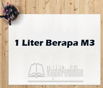 1 liter berapa cm3