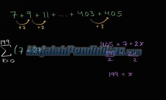 Bentuk Umum dari Notasi Sigma