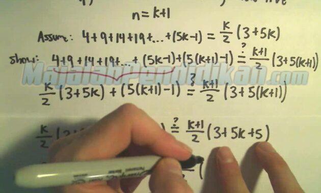 Contoh Soal Induksi Matematika dan Pembahasan