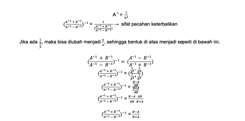 Pembahasan no 2 sifat bilangan berpangkat