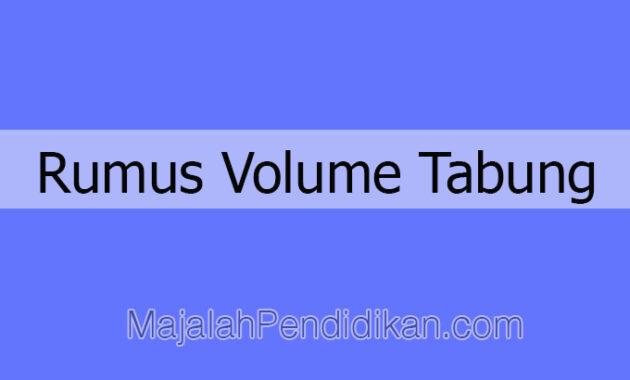 Rumus Volume Tabung sampul