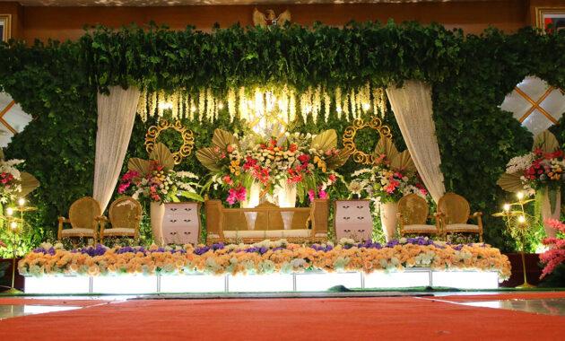 Hiasan dekorasi pernikahan
